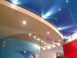 Натяжные потолки г.Ленинск-Кузнецкий, сатиновые натяжные потолки, глянцевые натяжные потолки